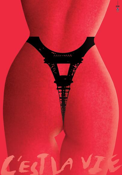 """Плакат """"C'est La Vie"""""""